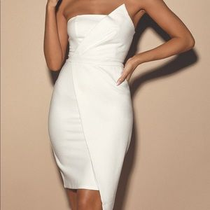 NWT never worn, beautiful white dress from lulus.